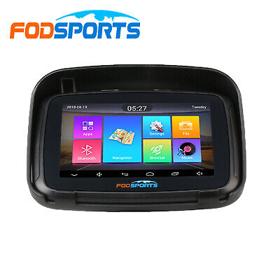 "5.0"" Bluetooth Motorbike GPS SAT NAV Motorcycle Navigation Waterproof Free Maps"