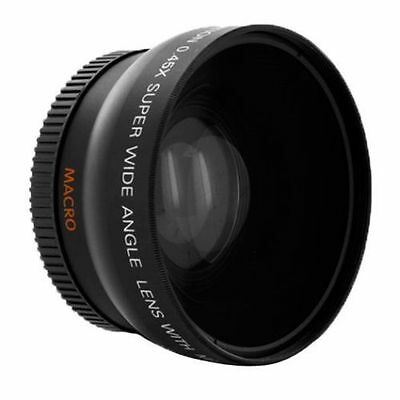 67mm 0.45X Wide Angle Auxiliary Lens & MACRO Close Up For SLR Sony Pentax 18-135