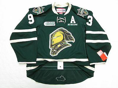 Mitch Marner London Knights Authentic Green Ohl Ccm Edge 2.0 7287 Hockey Jersey
