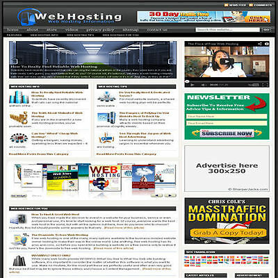Established 'WEB HOSTING' Affiliate Website Turnkey Business (FREE HOSTING)