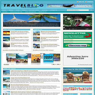 Established 'TRAVEL' Affiliate Website Turnkey Business For Sale (FREE HOSTING)