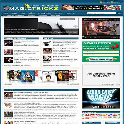 Established 'MAGIC TRICKS' Affiliate Website Turnkey Business (FREE HOSTING)