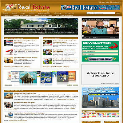 Established 'REAL ESTATE' Affiliate Website Turnkey Business (FREE HOSTING)