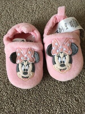 Baby Girls Disney Store Slippers 3-6 Months