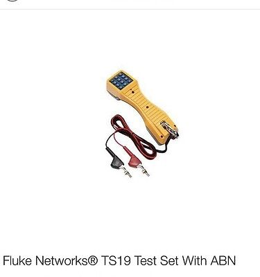 Fluke Networks TS19 Telephone Test Set with Angled Bed-of-Nails Clips