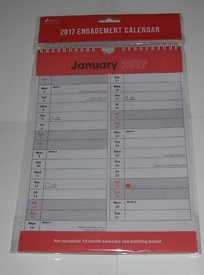 2017 Hanging Wall Calendar Large Month View Planner School/Office Calender New