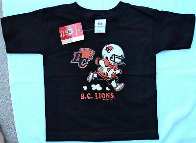 BC LIONS CFL Football New BABY T-Shirt Size 18 months Tags Infant Black Shirt