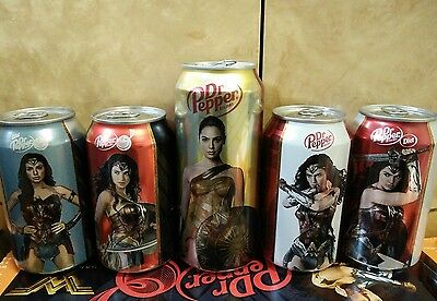 Dr pepper  5 cans set WONDER WOMAN (empty and top open)