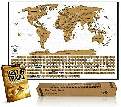 Premium World Scratch Off Travel Map – Perfect Traveller's Personalized & +