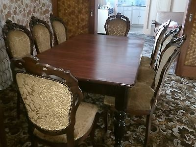 Vintage Edwardian Antique Dining Table And Chairs