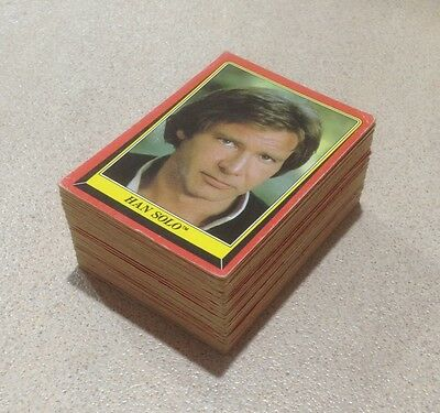 "1983 Scanlens ""Return of the Jedi"" - 77/132 Cards - Very Good Condition"