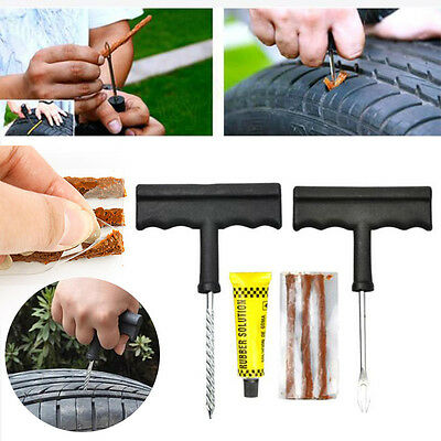 2017 1 Set Car Plug Tire Repair Tubeless Tyre Puncture Repair Kit Tool