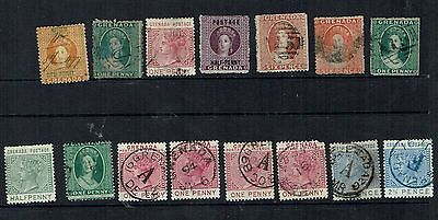 Grenada Stamps, strong value in the older stamps