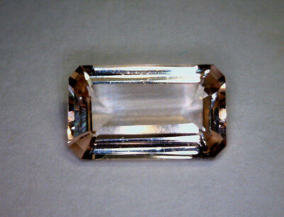 1.81 Ct Natural Octagon Morganite, Bright Peach-Pink, Unheated/untreated, Brazil