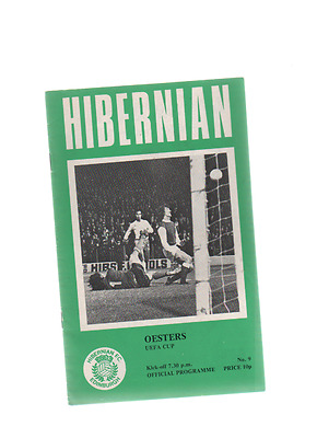 1976-77 Hibernian v Oesters 20th October 1976 UEFA Cup 2nd Round