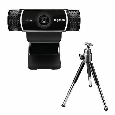 Logitech C922 Pro Stream Full HD Webcam With Mic And Adjustable Tripod Black