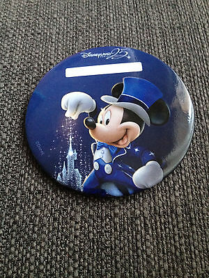 Badge Button exclusive exclusif Disneyland Paris 25 ans anniversaire anniversary