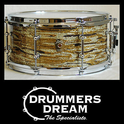 "Ludwig 13 x 6"" Maple & Oak Hybrid Shell Snare Drum Brass Oyster Glass RRP $699"