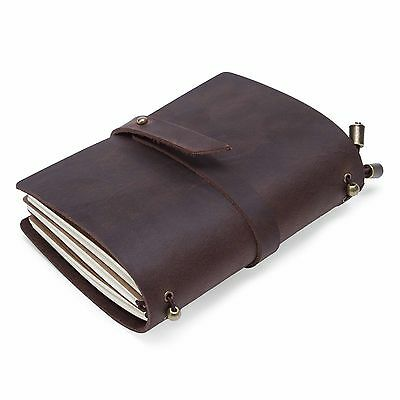 Vintage Notebook Leather Cover Handmade Diaries Book Journal Travel Notepad
