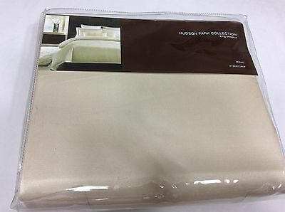 HUDSON PARK Mosaic Ivory Cotton/Polyester KING BEDSKIRT