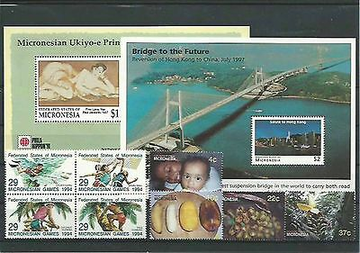 10.924/ Lot / Mixture ** MNH Micronesia mit 2x Block