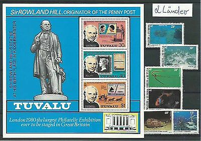 10.932/ Lot / Mixture ** MNH Wallis et Futuna + Tuvalu