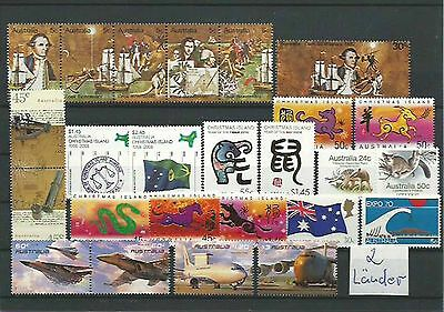 10.934/ Lot / Mixture ** MNH Christmas Isl. + Australien