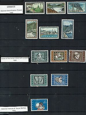 Greece  Stamps various sets inc  Electrification 1962-               greece30