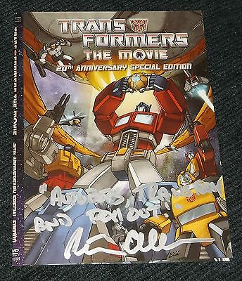 Peter Cullen Signed Autograph Transformers Dvd Cover W/ Optimus Prime Quote!