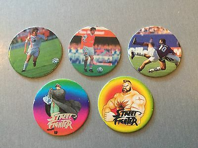 Very Rare Plascot Tazos Street Fighter And Football Tazos