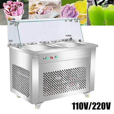 1200W Fried Fry Ice Cream Maker Single Pot Machine Stable Stainless Steel New