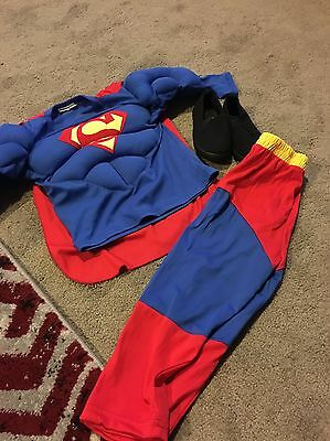 Toddler Superman Costume Size 2 With Shoes