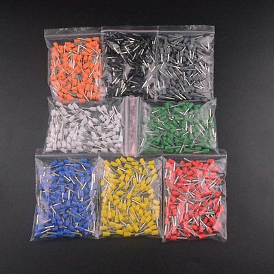 50PCS 16AWG Tube Insulated End Terminal Wire Copper Crimp Connector E1510