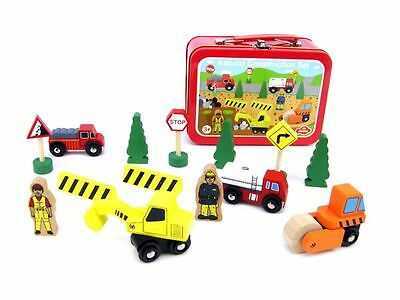 Construction playset in a tin
