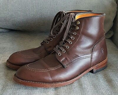 Frye Men's Brown Leather Lace-Up Ankle Boots Size 10.5