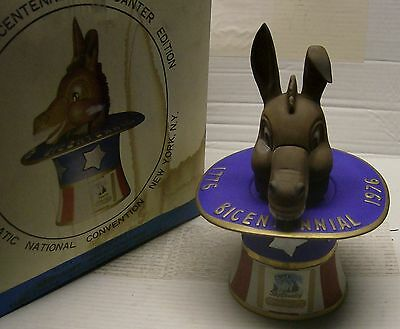 Democratic National Convent. Donkey Decanter 1776-1976 with original packaging