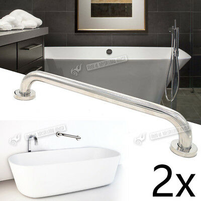 Bath Shower Grab Handle Bar Bathroom Safety Grip Support Rail Polished Stainless