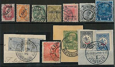 60890 - LEVANT Holy Land TURKEY - STAMPS: nice LOT of 13  STAMPS - USED