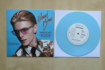 "DAVID BOWIE Who Can I Be Now? 7"" blue vinyl in picture sleeve"