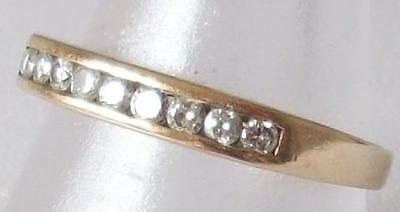 Clearance Sale Reduced Vintage 2000 Millennium Diamonds 9Ct Half Eternity Ring
