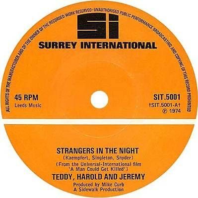 """Teddy and Darrel - Strangers in the night (1974 reissue 7"""" single)"""