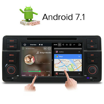 7'' Android 7.1 DVD Player sat nav Stereo GPS for BMW E46 3er 318 320 Rover75 MG