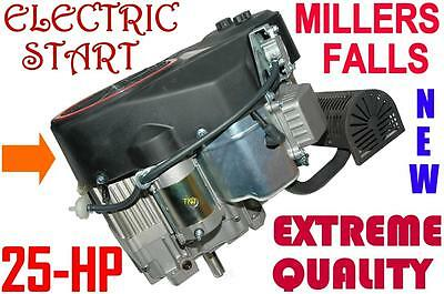 Engine 25 hp Vertical straight Shaft 25.4mm Millers Falls = Ride on mowers - NEW