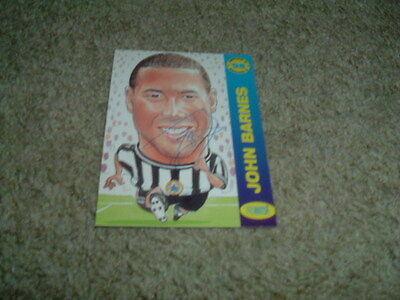 John Barnes - Newcastle United - Signed Pro Match 98 Trade Card