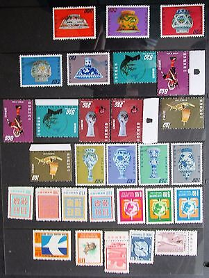 7 - Taiwan Small Mnh Collection On Two Stockcards - Please See Photographs
