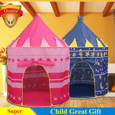 Pop Up Play Tent Kids Castle Outdoor Garden Folding Toy Tet Children Play House