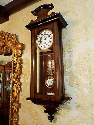 Single train spring driven Vienna regulator wall clock. Cromwell- Marsh Dover
