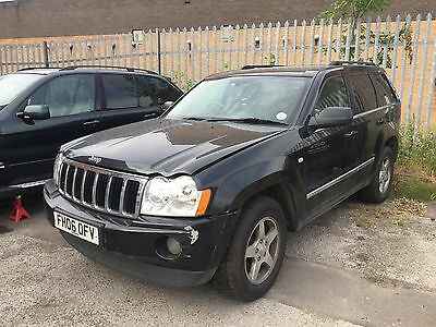 Jeep Grand Cherokee 3.0 Crd 2007 Black Grey Leather Breaking