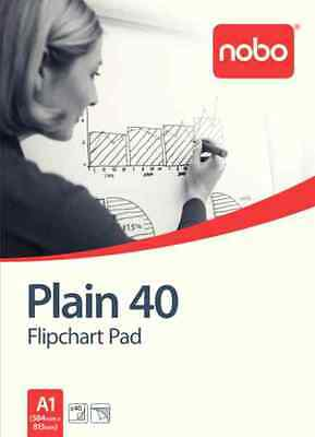 Nobo  Flipchart Pad Perforated 70gsm 40 Sheets A1 Plain - Pack of 5