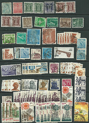 India 1950 onwards used (2 pages) (approx 160 items)